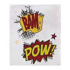 Bam Pow Throw Blanket