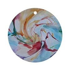 Abstract Art Round Ornament