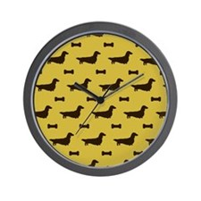 doxieslongpillowcp Wall Clock