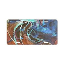 Abstract Art Dark I Aluminum License Plate