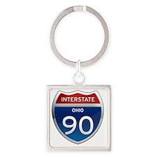 Interstate 90 - Ohio Square Keychain