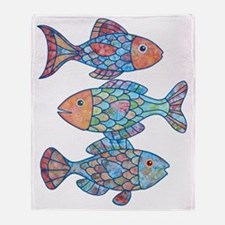 fishes 3 Throw Blanket