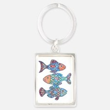fishes 3 Portrait Keychain
