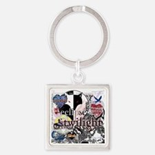 new twilight saga collage by twiba Square Keychain