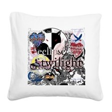 new twilight saga collage by  Square Canvas Pillow