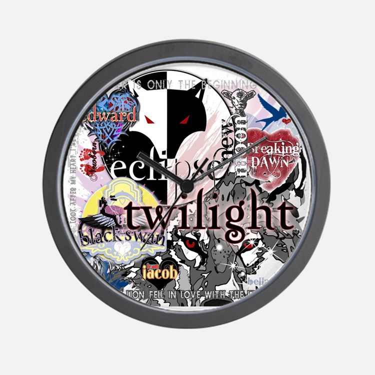 new twilight saga collage by twibaby be Wall Clock