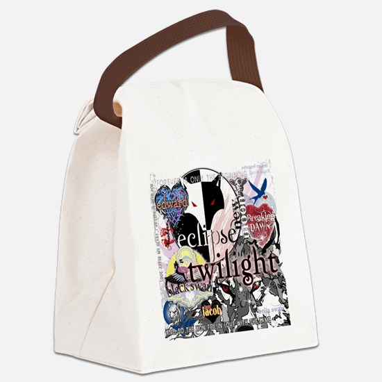 new twilight saga collage by twib Canvas Lunch Bag