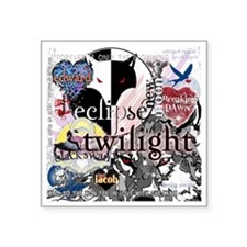 "new twilight saga collage b Square Sticker 3"" x 3"""