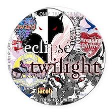 new twilight saga collage by twib Round Car Magnet