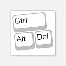 "cntrolplain copy Square Sticker 3"" x 3"""