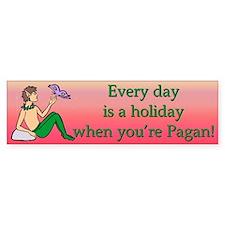 """Pagan Holiday"" Bumper Bumper Sticker"