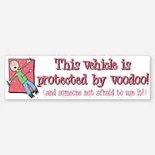 """Protected By Voodoo"" Bumper Bumper Bumper Sticker"