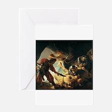 The Blinding of Samson - Rembrandt - c1636 Greetin