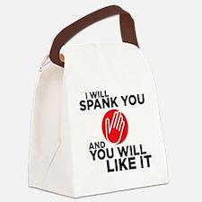 spankyou copy Canvas Lunch Bag