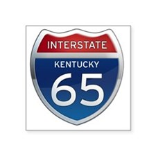 "Interstate 65 - Kentucky Square Sticker 3"" x 3"""