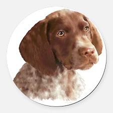 German Shorthair Pointer Puppy Round Car Magnet
