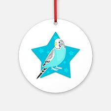 Sweet Bird Parakeet star Round Ornament
