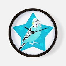 Sweet Bird Parakeet star Wall Clock