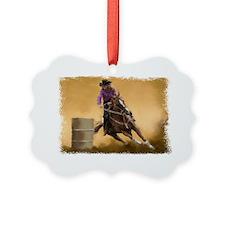 Barrel Racing Ornament