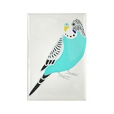 Sweet Bird Parakeet Rectangle Magnet