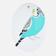 Sweet Bird Parakeet Oval Ornament