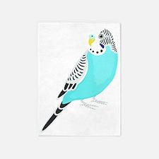 Sweet Bird Parakeet 5'x7'Area Rug