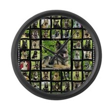 blanket-brutus Large Wall Clock