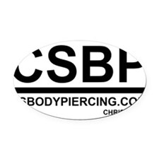 CSBP Oval Car Magnet