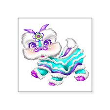 "Dragon big teal Square Sticker 3"" x 3"""
