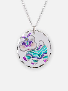 Dragon big teal Necklace