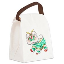 Dragon big green Canvas Lunch Bag