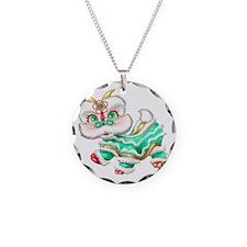 Dragon big green Necklace