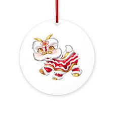 Dragon big redgold Round Ornament