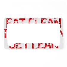 Eat Clean Train Mean Get Lean License Plate Holder