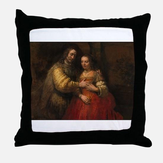 The Jewish bride - Rembrandt - c1665 Throw Pillow