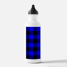 kindlesleevebluechecke Water Bottle