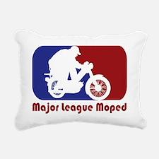 MopedLOGOredtext Rectangular Canvas Pillow