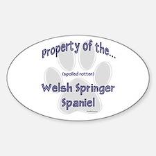 Welsh Springer Property Oval Decal