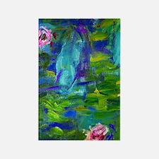 441 Monet Lilies2 Rectangle Magnet
