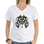 Tribal Woven Blades Women's V-Neck T-Shirt