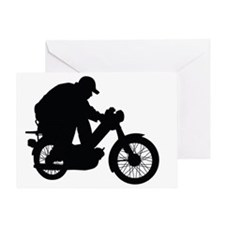 MopedLOGOsilhouette Greeting Card