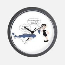 Real Victim - white text Wall Clock