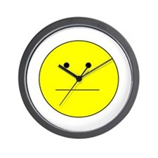 Straight Smiley Face Wall Clock