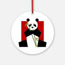 panda Round Ornament