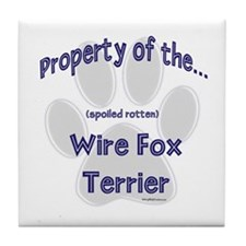 Wire Fox Property Tile Coaster