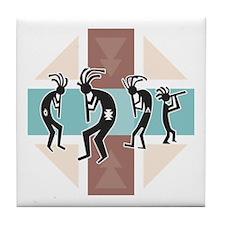 Kokopelli Designs Tile Coaster