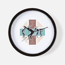 Kokopelli Designs Wall Clock