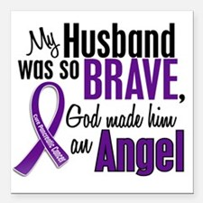 "D Husband Square Car Magnet 3"" x 3"""