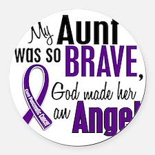 D Aunt Round Car Magnet