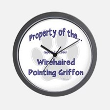 Wirehaired Griffon Property Wall Clock